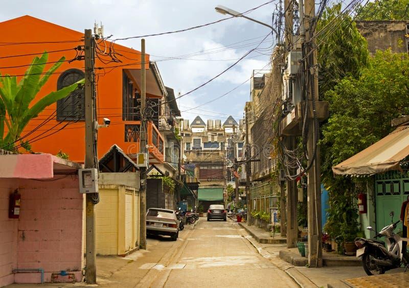 Mała ulica Bangkok miasto, Tajlandia fotografia stock
