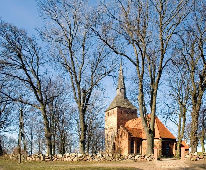 mała wioska kościelna obraz stock