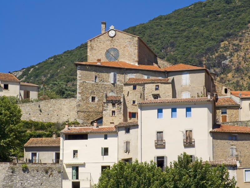 mała wioska languedoc obraz royalty free