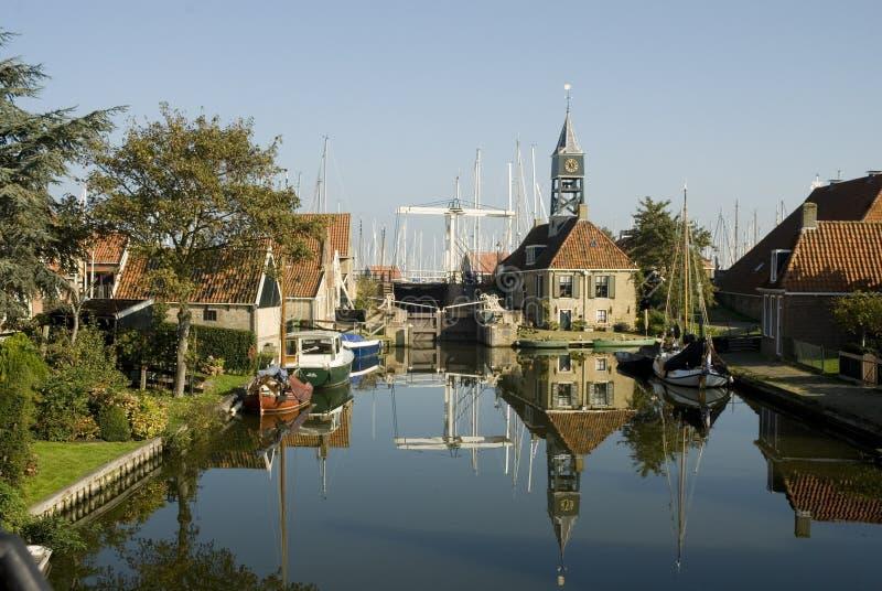 mała wioska niderlandzkiej typowa obrazy stock
