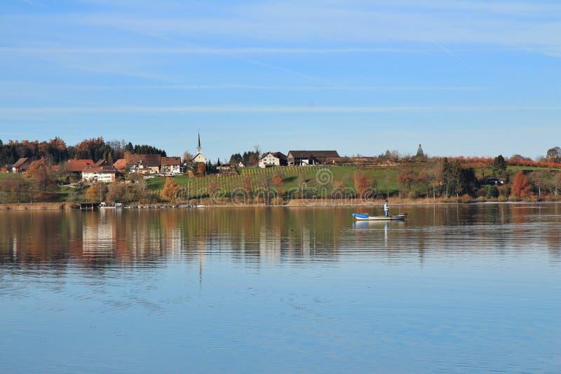 Mała wioska Seegraben w jesieni zdjęcie stock