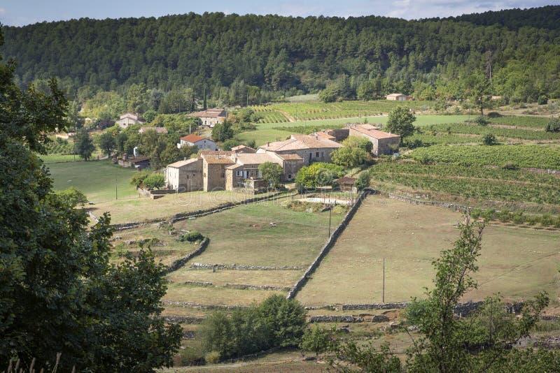 Mała wioska w Francja (Ardeche) zdjęcia royalty free