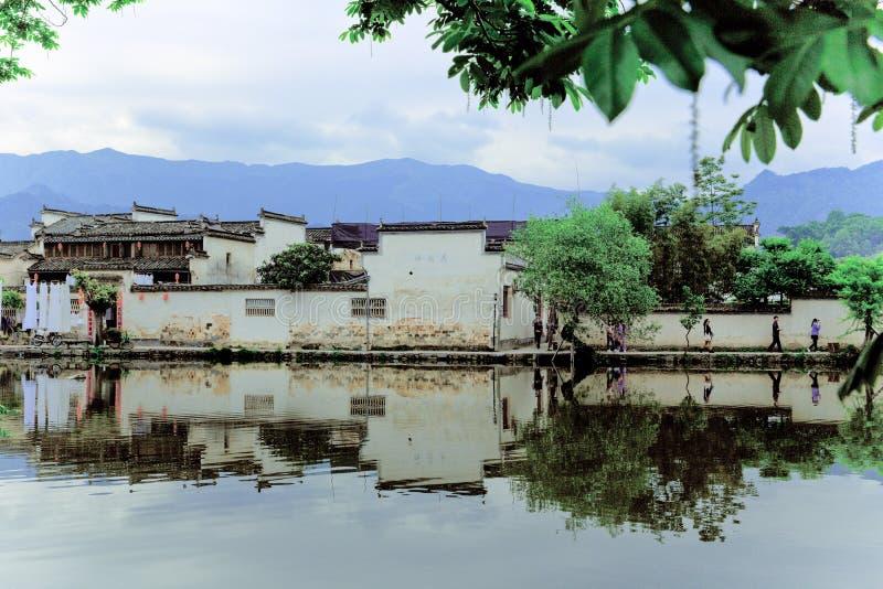 Mała wioska w górze Huangshan, Chiny, dzwoni Hongcun jak piękno krajobrazowy obraz, właśnie zdjęcia royalty free