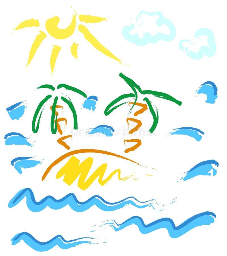 mała wyspa ilustracja wektor
