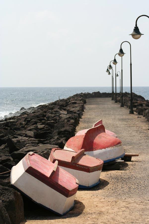 małe łodzie linii zdjęcie royalty free