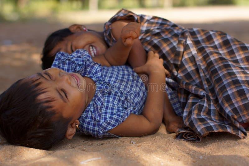 Małe burmese dziewczyny, Bagan, Birma, Azja obrazy royalty free