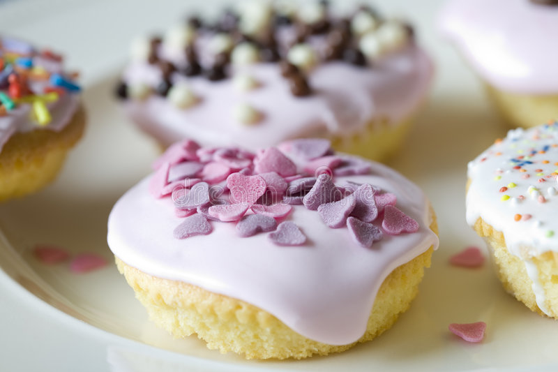 małe ciasteczka urodzinowi obrazy royalty free
