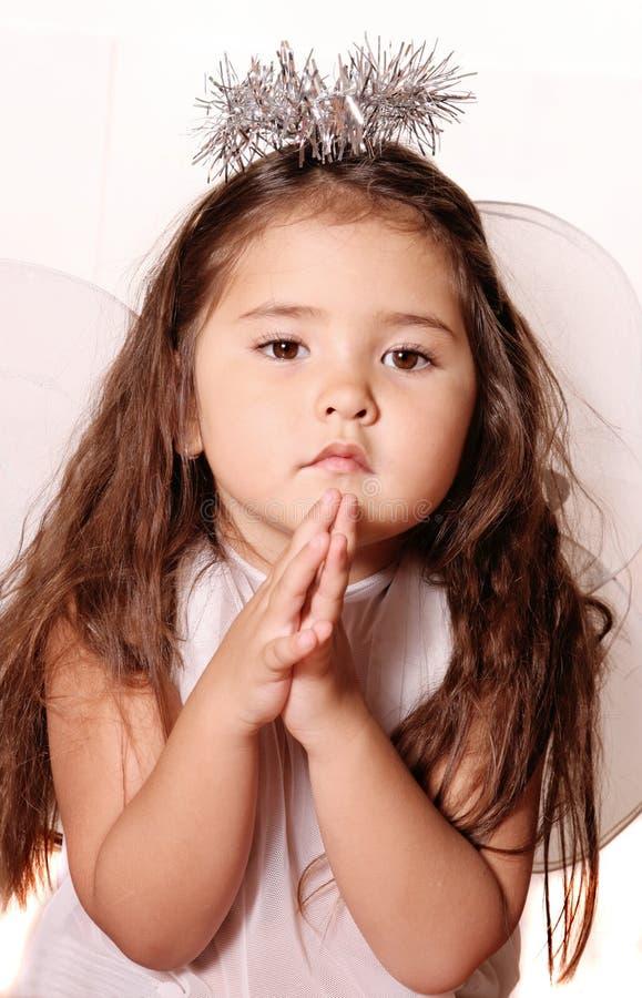 małe dziecko anioła obraz stock