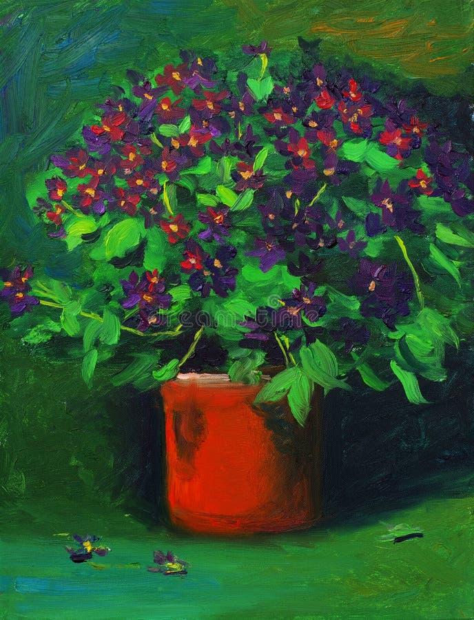 małe kwiat purpury ilustracja wektor