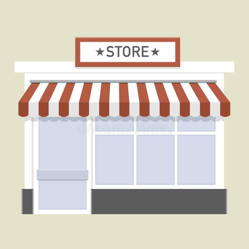 Małego sklepu przód royalty ilustracja
