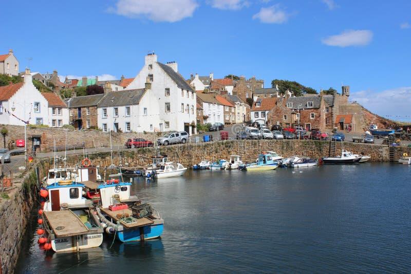 Małej łódki Crail schronienie, Crail, piszczałka, Szkocja zdjęcie stock