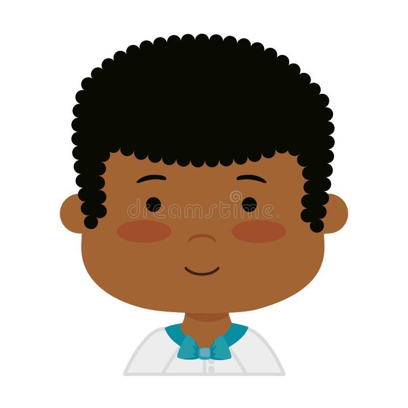 Małej czarnej chłopiec communion pierwszy charakter ilustracji