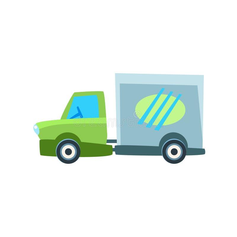Małej Doręczeniowej ciężarówki zabawki Śliczna Samochodowa ikona ilustracja wektor