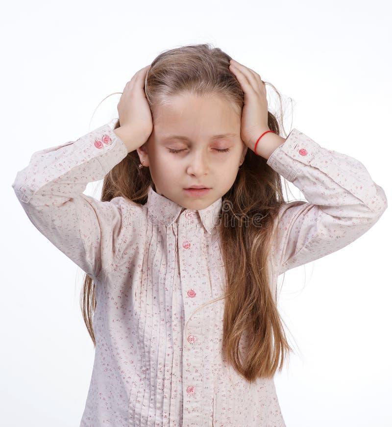 Małej dziewczynki cierpienie od migreny zdjęcia royalty free