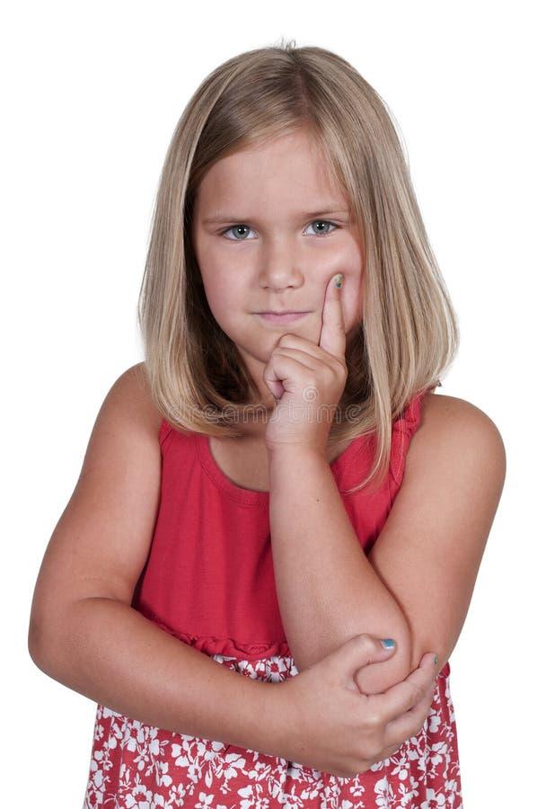 Małej Dziewczynki główkowanie obraz royalty free