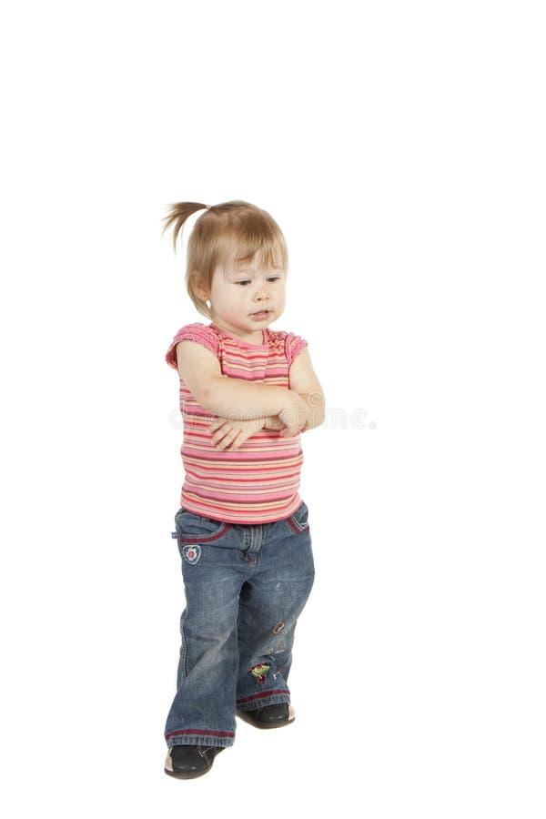Małej dziewczynki główkowanie obraz stock