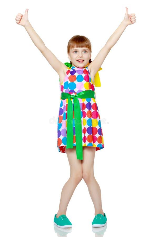 Małej dziewczynki gestykulować obrazy royalty free
