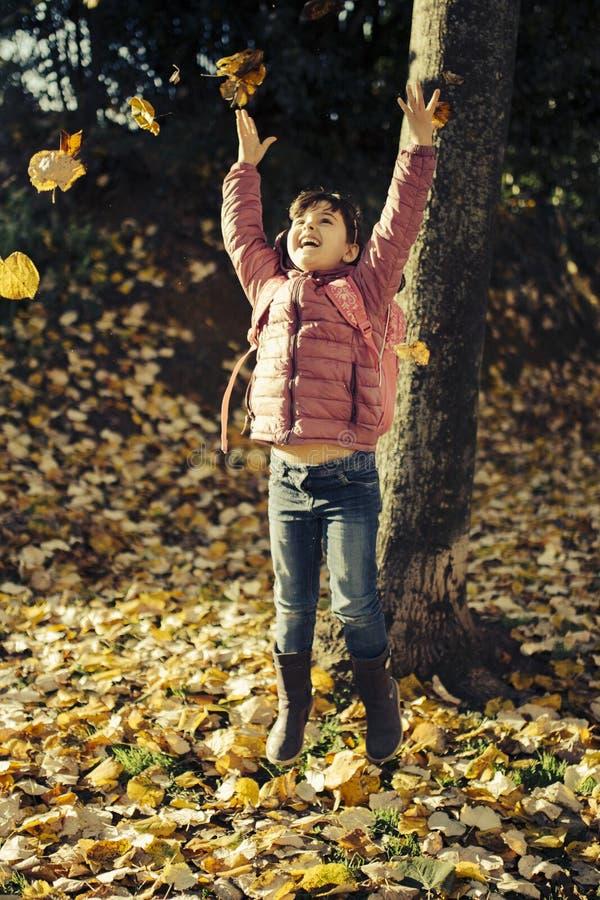 Małej dziewczynki jesieni portret zdjęcia stock