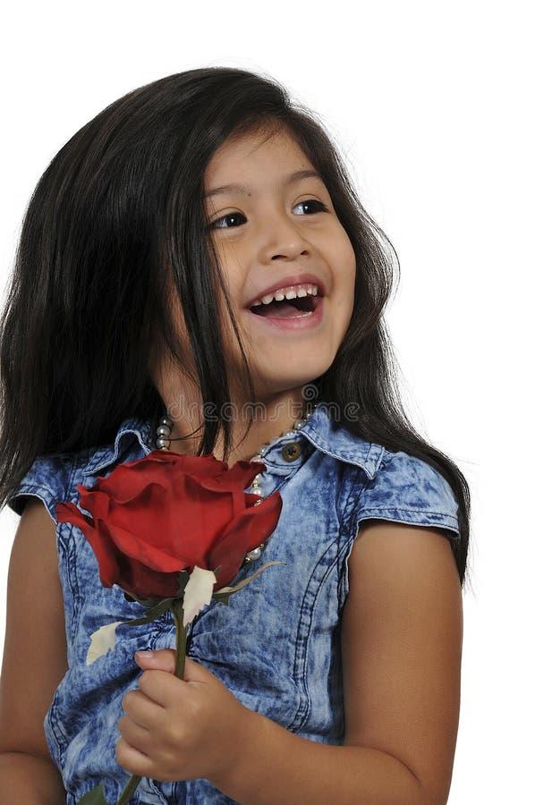 Małej Dziewczynki mienie Wzrastał zdjęcie stock