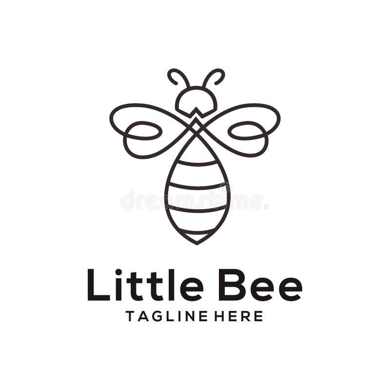 Małej pszczoły zwierzęcy logo i ikona projekt ilustracja wektor