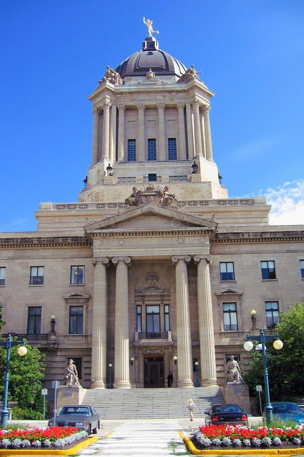 Małomiasteczkowy parlamentu budynek w Winnipeg fotografia stock