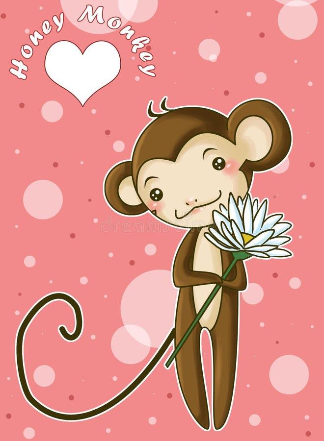 małpa kochanie ilustracja wektor