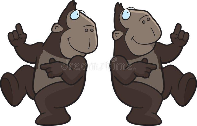 małpa taniec royalty ilustracja