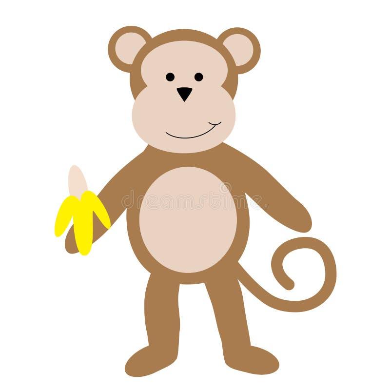 Małpa z bananem ilustracji