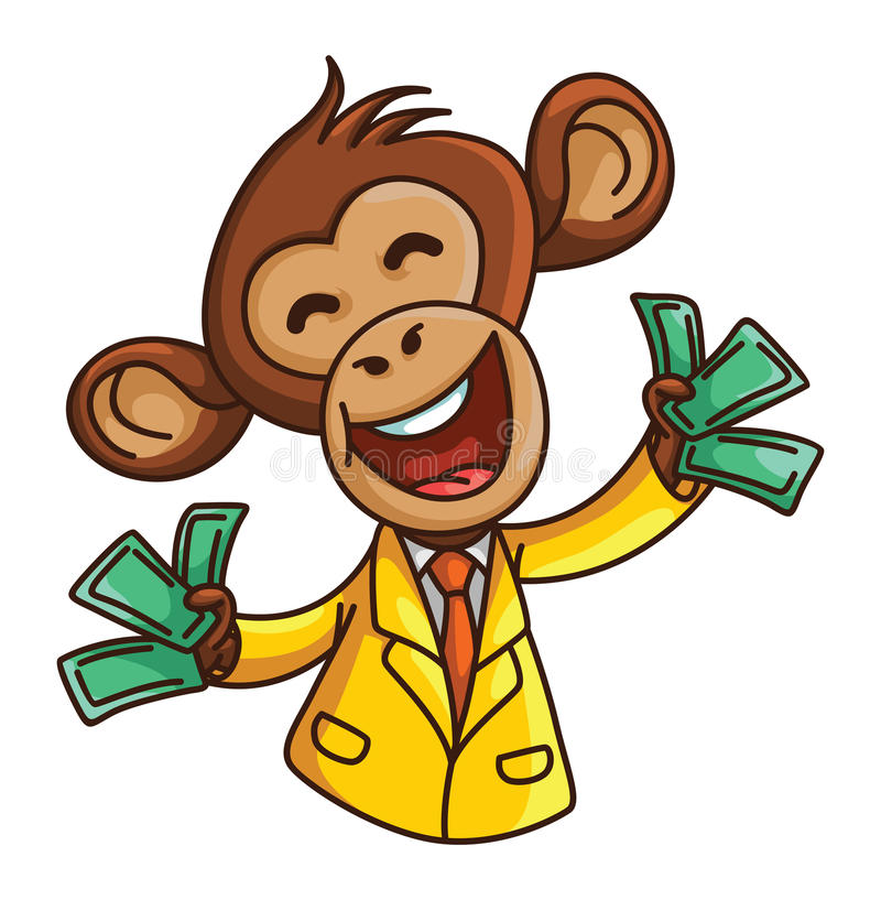 Małpi biznes royalty ilustracja