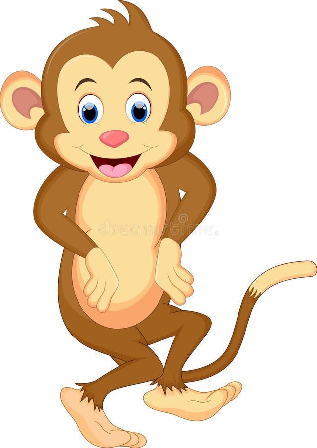 Małpi kreskówka taniec ilustracja wektor