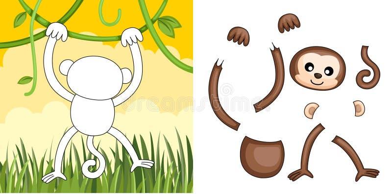 małpia łamigłówka royalty ilustracja
