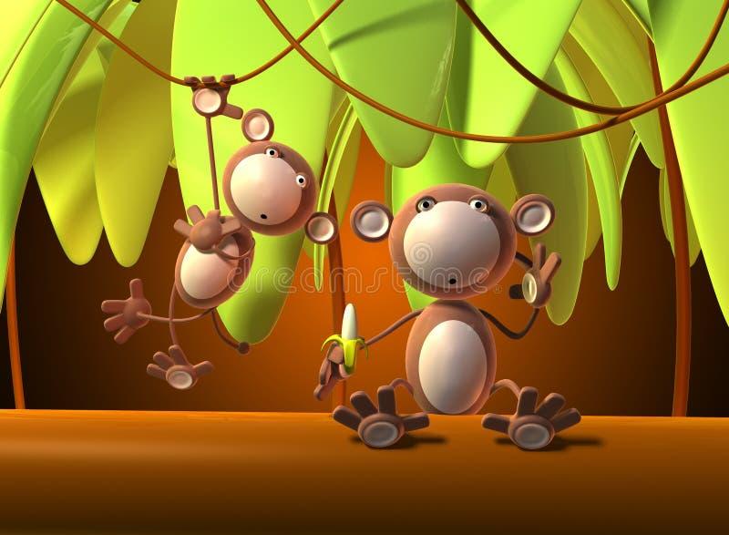 małpy. ilustracji