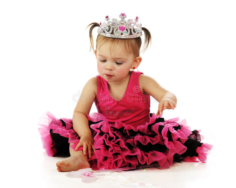 mały ładny princess obrazy royalty free
