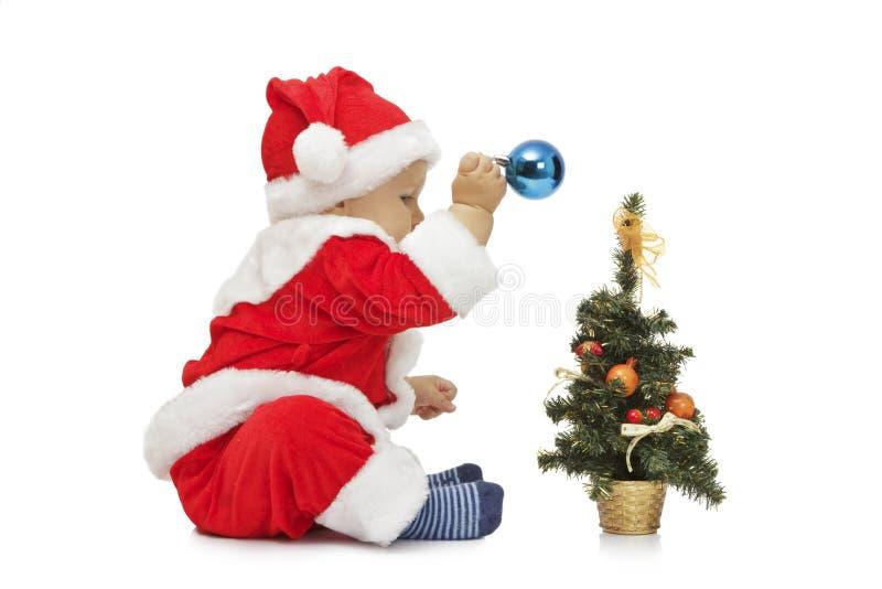 Mały śliczny Santa fotografia royalty free