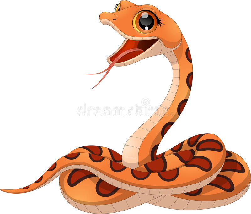 Mały śmieszny wąż ilustracji