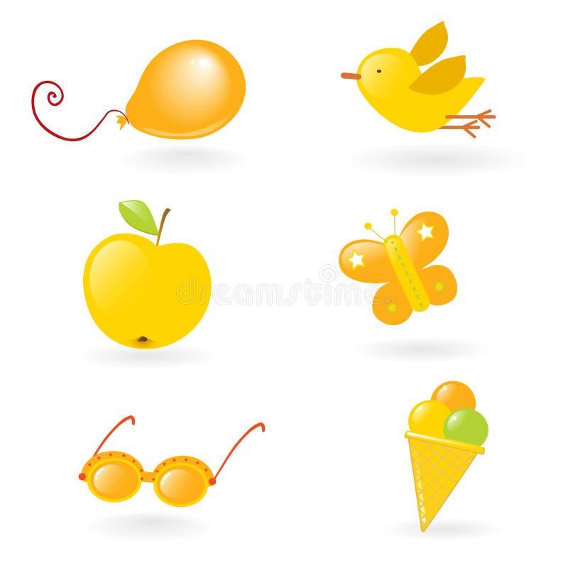 mały żółty miłości ilustracja wektor