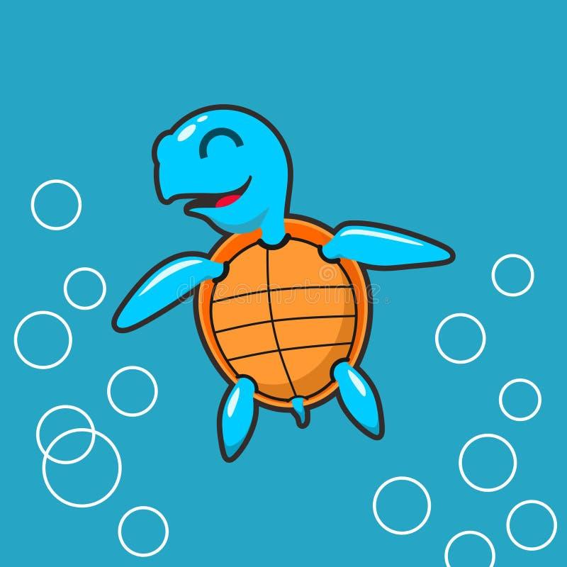 Mały żółw na temat inspiracji w postaci morza zdjęcia stock