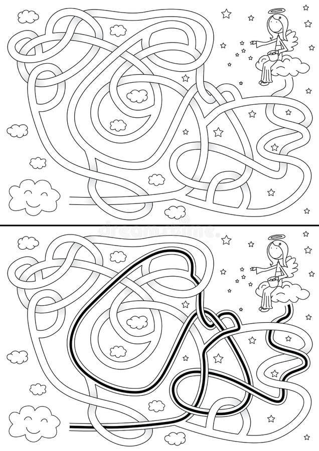 Mały anioła labirynt royalty ilustracja
