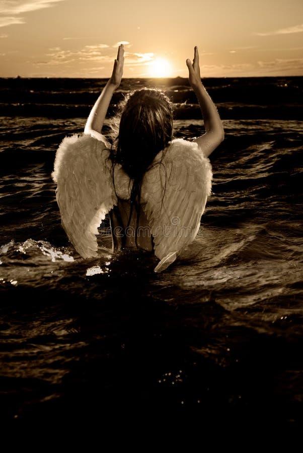 mały aniołeczka zdjęcie obrazy stock