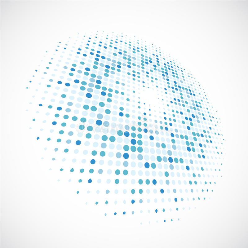 Mały błękit okrąża tło tło wektor eps10 obrazy stock