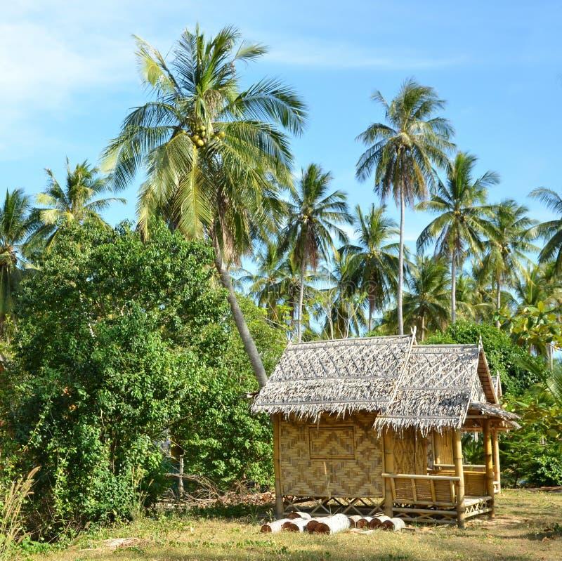 Mały bambusa dom obraz stock
