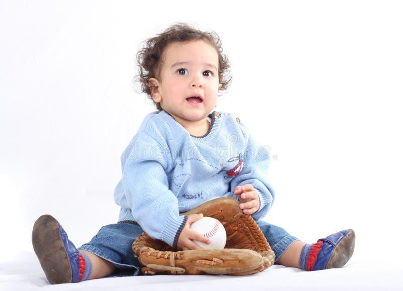 mały baseballa gracz zdjęcia stock