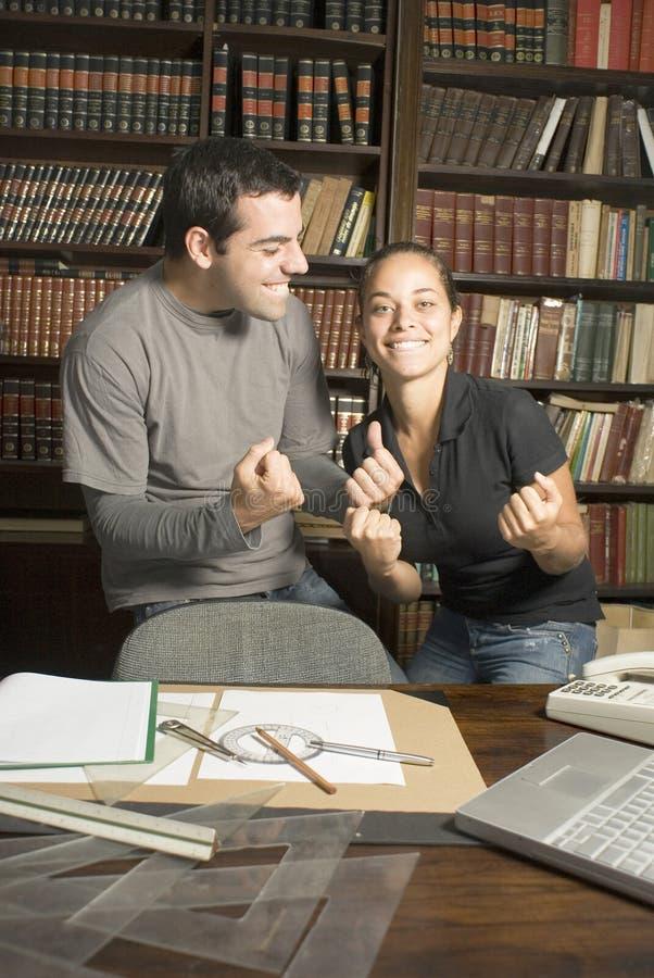 mały bibliotece studentów zdjęcia stock