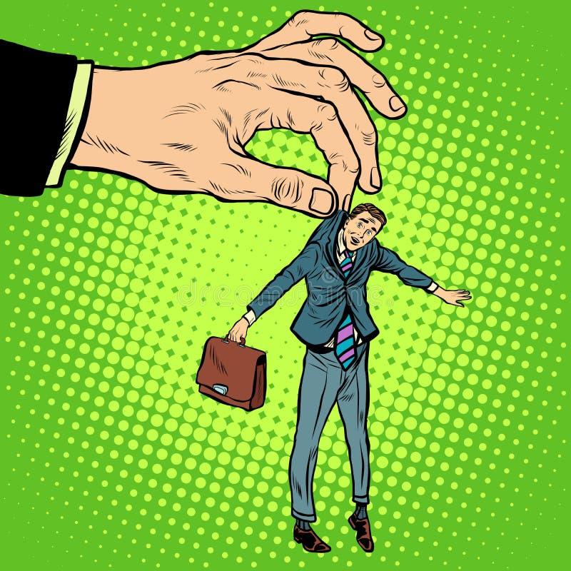 Mały biznes w dużych rękach ilustracja wektor