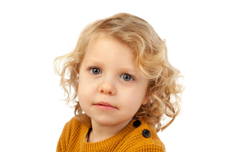 Mały blond dziecko z cztery rok zdjęcia royalty free