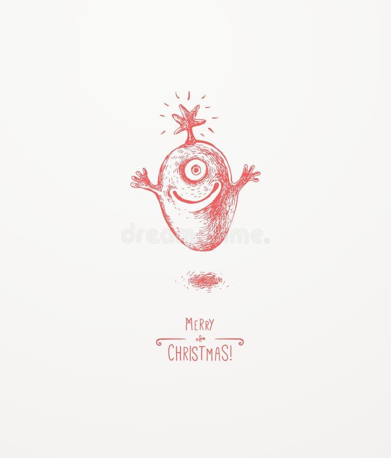 Mały Bożenarodzeniowy potwór ilustracji