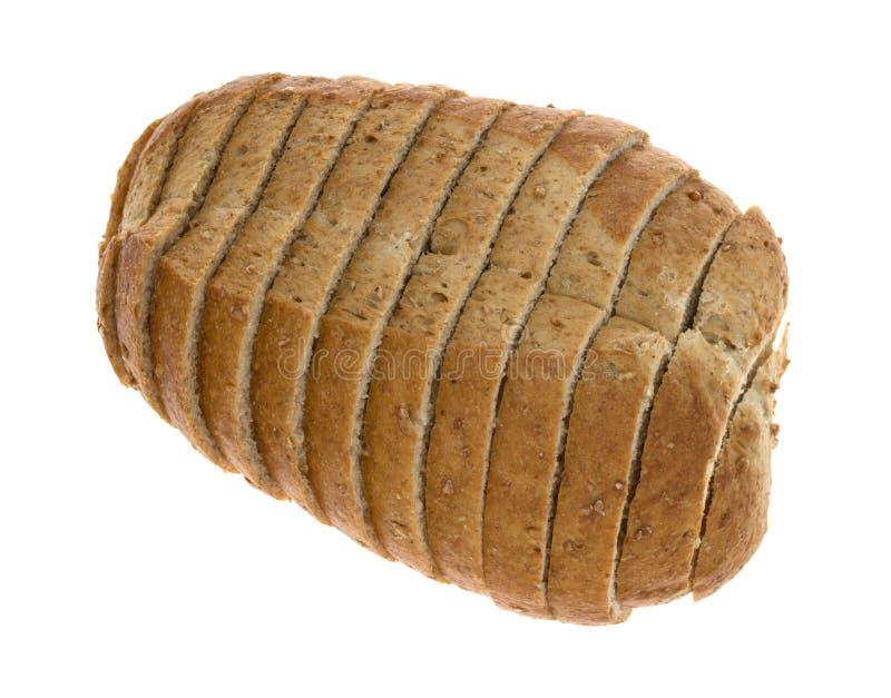 Mały bochenek pokrojony pszeniczny chleb fotografia royalty free