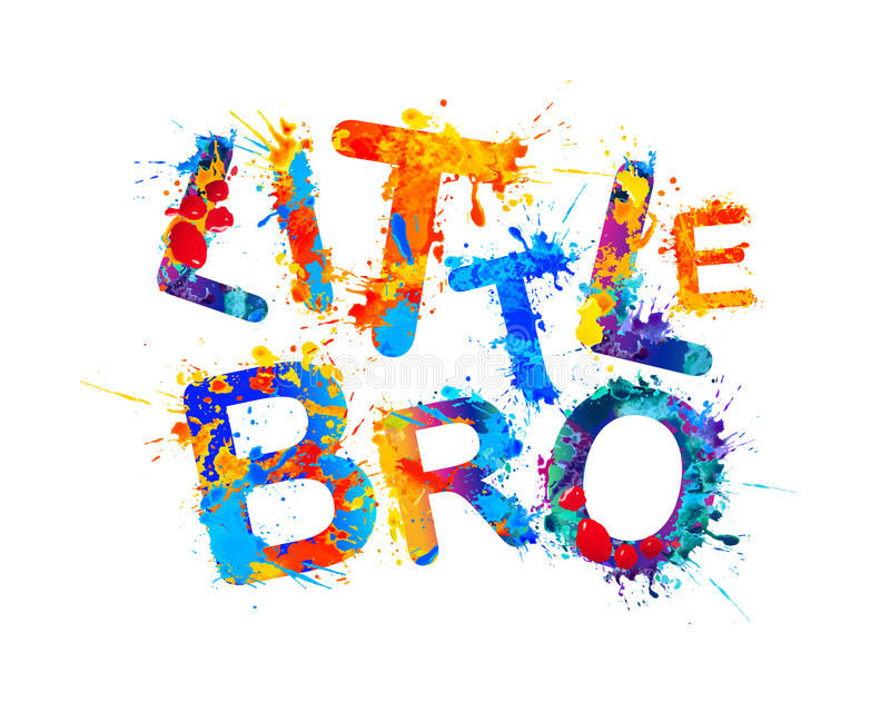 Mały bro Pluśnięcie farba ilustracji