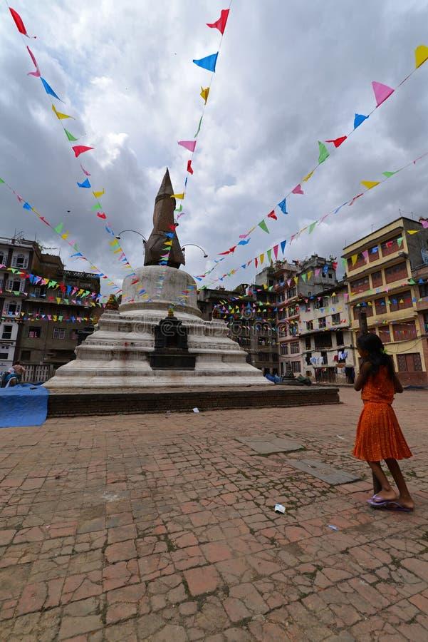 Mały Buddyjski stupy inKathmandu, Nepal obraz royalty free