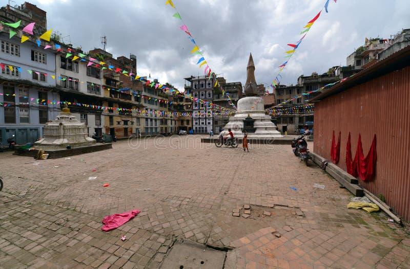 Mały Buddyjski stupy inKathmandu, Nepal fotografia stock
